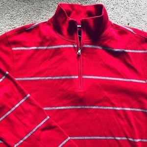 Men's banana republic quarter zip sweater